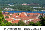 panoramic view of jonkoping... | Shutterstock . vector #1009268185