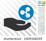 hand offer ripple coin... | Shutterstock .eps vector #1009268335