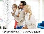 four year little girl in optics ... | Shutterstock . vector #1009271335