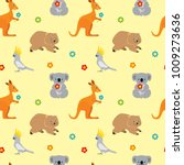 seamless pattern with cute...   Shutterstock .eps vector #1009273636