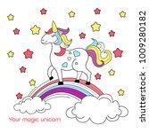vector illustration of cartoon... | Shutterstock .eps vector #1009280182