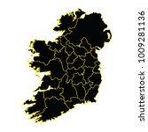 black map of ireland  vector... | Shutterstock .eps vector #1009281136