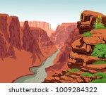 Vector Colorado River In Grand...