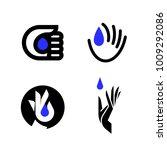 elegant vector logo mark... | Shutterstock .eps vector #1009292086