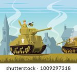 American Tank On World War Two...