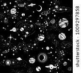 space galaxy constellation... | Shutterstock .eps vector #1009297858