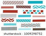 washi tape vector illustration. ... | Shutterstock .eps vector #1009298752