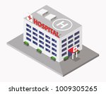 hospital building isometric... | Shutterstock .eps vector #1009305265