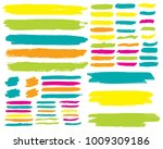 collection of hand drawn... | Shutterstock .eps vector #1009309186