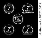 7 years anniversary celebration ... | Shutterstock .eps vector #1009316455