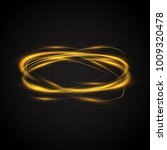 abstract glowing rings. a... | Shutterstock .eps vector #1009320478