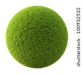 Green Grass Ball. Isolated On...