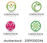 tree leaf vector logo design ... | Shutterstock .eps vector #1009330246