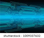 binary circuit board future... | Shutterstock .eps vector #1009337632