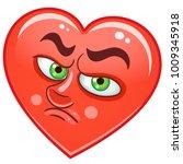 cartoon red heart cry....   Shutterstock .eps vector #1009345918