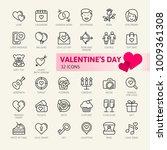 valentine's day elements  ... | Shutterstock .eps vector #1009361308