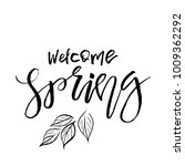 welcome spring   hand drawn... | Shutterstock .eps vector #1009362292