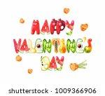happy valentine's day. postcard ... | Shutterstock . vector #1009366906