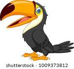 cartoon toucan isolated on... | Shutterstock .eps vector #1009373812