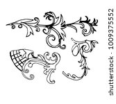 set sketch of a baroque ornament | Shutterstock .eps vector #1009375552
