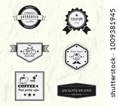 vector set of design premium... | Shutterstock .eps vector #1009381945