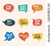 set of sale  discount and... | Shutterstock .eps vector #1009383118