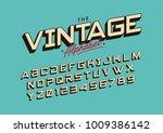 vector of big retro font and... | Shutterstock .eps vector #1009386142