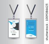 blue template staff or employee ... | Shutterstock .eps vector #1009386625
