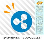 ripple shine pictograph with... | Shutterstock .eps vector #1009392166