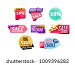 supermarket sale stickers...