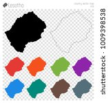 lesotho high detailed map.... | Shutterstock .eps vector #1009398538