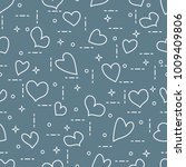 cute seamless pattern with... | Shutterstock .eps vector #1009409806