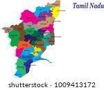 tamil nadu districts vector map ... | Shutterstock .eps vector #1009413172
