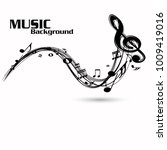 abstract music notes on line... | Shutterstock .eps vector #1009419016