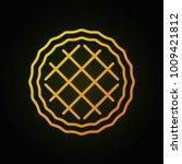 pie yellow minimal icon. vector ... | Shutterstock .eps vector #1009421812