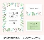 wedding invitation card | Shutterstock .eps vector #1009426948