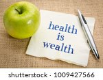 health is wealth inspirational... | Shutterstock . vector #1009427566