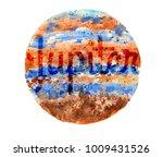 watercolor illustration   solar ... | Shutterstock . vector #1009431526