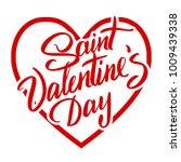 saint valentine day hand drawn... | Shutterstock .eps vector #1009439338