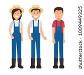 farmer gardener cartoon people | Shutterstock .eps vector #1009449325