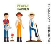 farmer gardener cartoon people | Shutterstock .eps vector #1009449346