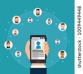 social network concept... | Shutterstock .eps vector #1009449448