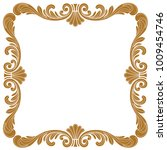 golden vintage baroque ornament ... | Shutterstock .eps vector #1009454746