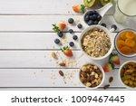 healthy food concept  breakfast ...   Shutterstock . vector #1009467445