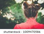 close up head shot back view ... | Shutterstock . vector #1009470586