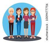 group of milennials generation... | Shutterstock .eps vector #1009477756
