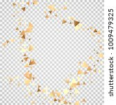 golden confetti on a... | Shutterstock .eps vector #1009479325
