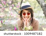 happy girl rejoices in the...   Shutterstock . vector #1009487182