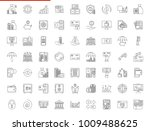 banking icon set. thin line... | Shutterstock . vector #1009488625