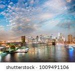 night lights of manhattan  ... | Shutterstock . vector #1009491106